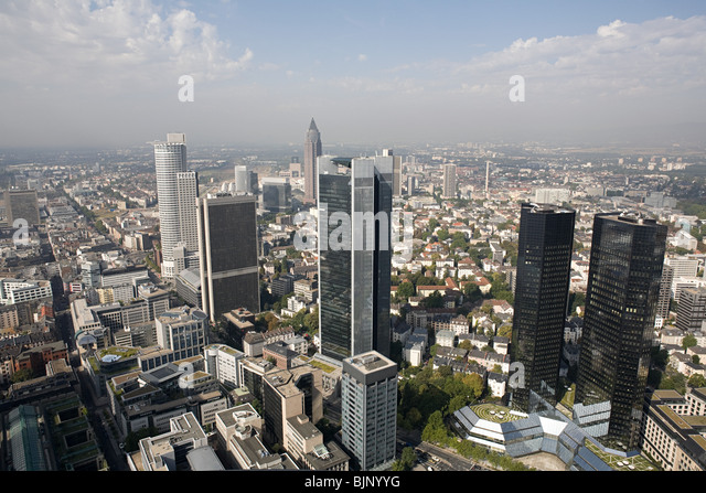 Frankfurt cityscape - Stock Image