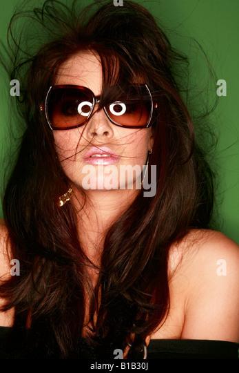Brunette woman, portrait - Stock Image