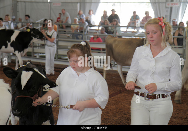 Plant City Florida Florida Strawberry Festival FFA Future Farmers of America student disabled partner annual event - Stock Image