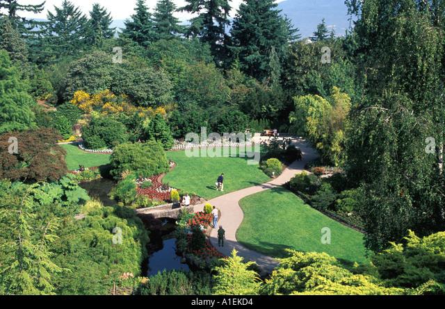 Vancouver Canada Queen Elizabeth Park Gardens - Stock Image