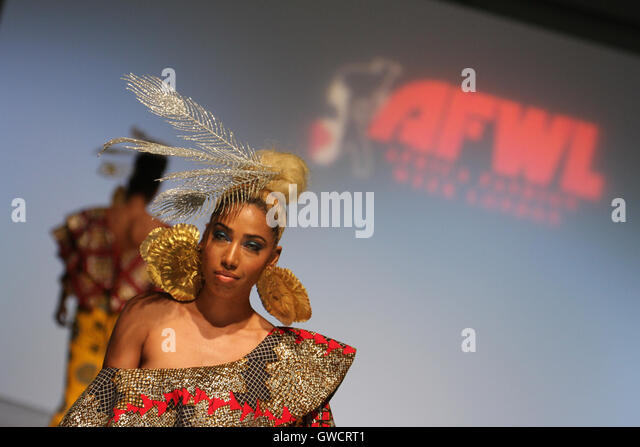 LONDON, UK - September 10: Signature Secrets is showcased on the second day of Africa Fashion Week London held at - Stock Image