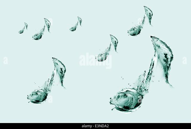Scattered Water Musical Notes - Stock-Bilder