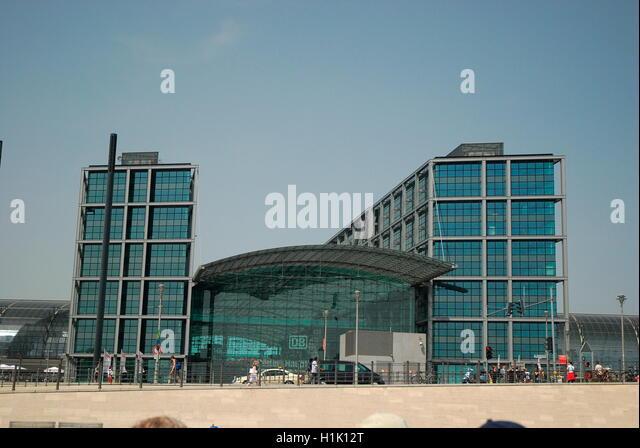 Architektur, modern, Fassade, Hauptbahnhof, Berlin, Deutschland - Stock-Bilder
