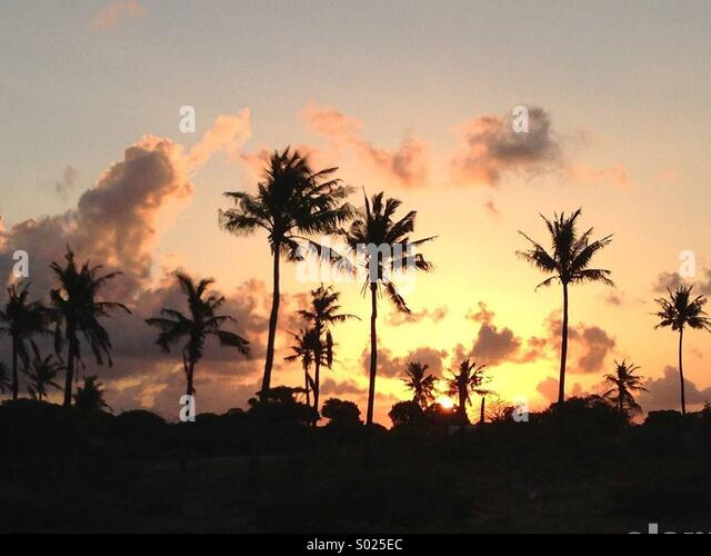 Sunset in Mozambique - Stock Image