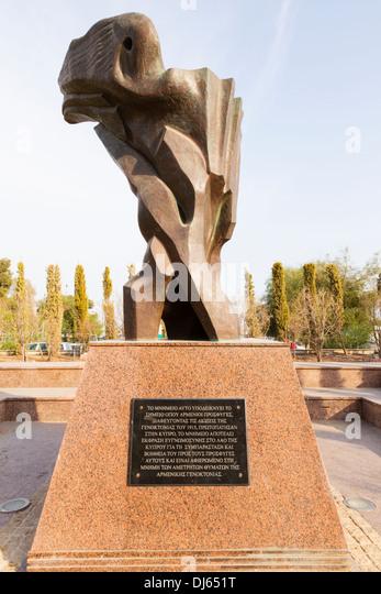 Armenian genocide memorial, Larnaca, Cyprus. - Stock Image