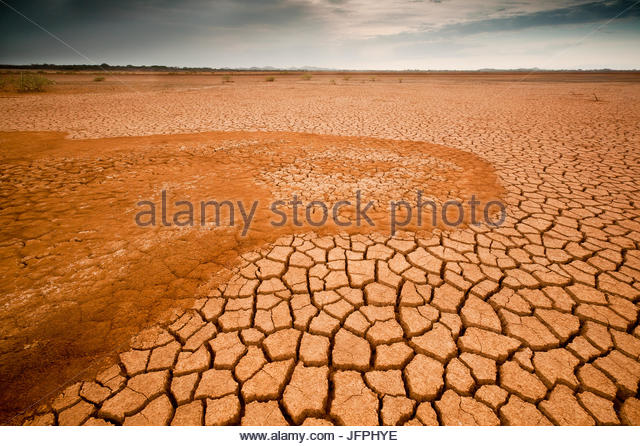Desert landscape in Sarigua national park, Herrera province, Republic of Panama. - Stock-Bilder