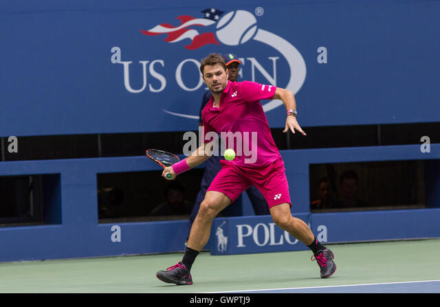 Stan Wawrinka (SUI) competing in the 2016 US Open Men's Final - Stock-Bilder