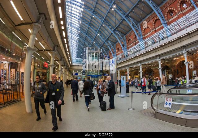 St Pancras International, London - Stock-Bilder