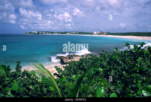 Anguilla island United Kingdom West Indies beach in the south - Stock Image