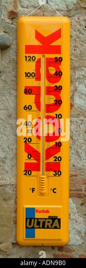 Kodak Thermometer - Stock Image
