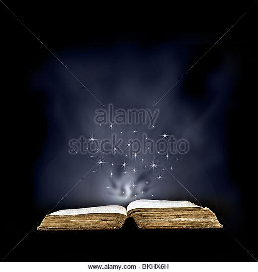Magic book - Stock Image