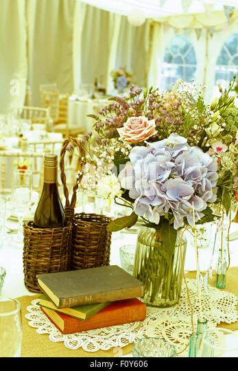 vintage wedding - Stock Image
