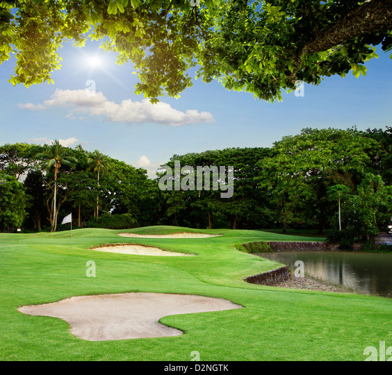 Golf Course in Bali - Stock Image
