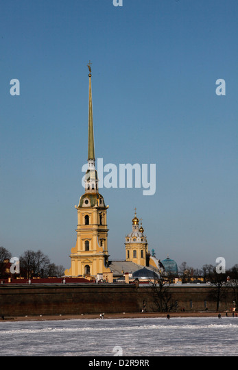 St. Peter and St. Paul Cathedral, St. Petersburg, Russia, Europe - Stock Image