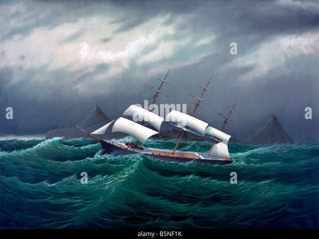 Storm at the Cape Horn - Stock Image