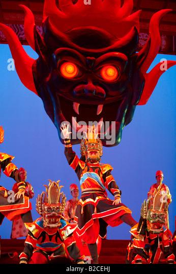 Tang Dynasty Show Xian China - Stock Image