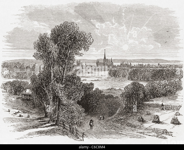 Bonn, Germany in the 19th century. - Stock Image