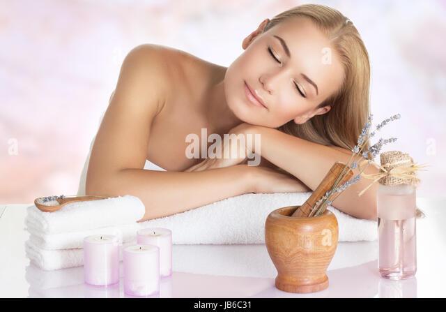 beautiful woman massage procedure stock photos beautiful woman massage procedure stock images. Black Bedroom Furniture Sets. Home Design Ideas