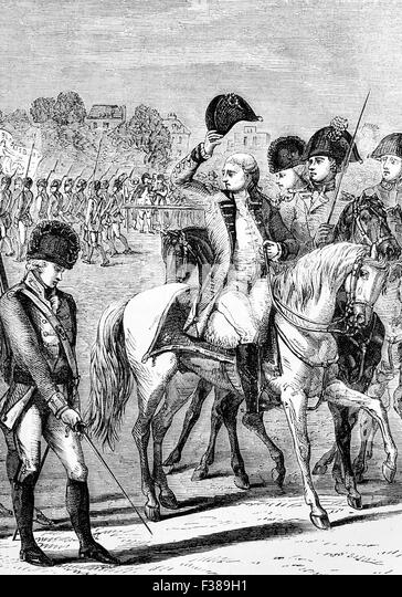 King George III reviewing British volunteers during anti-invasion preparations of 1804. There  were military and - Stock Image