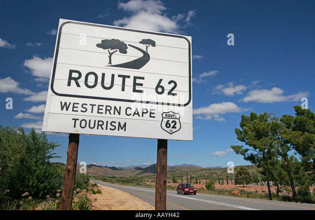 south africa Littel Karoo Route 62 sign - Stock Image