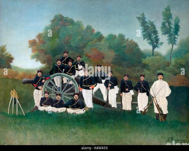 Artillerymen, by Henri Rousseau, circa 1894, Solomon R. Guggenheim Museum, Manhattan, New York City, USA, North - Stock Image
