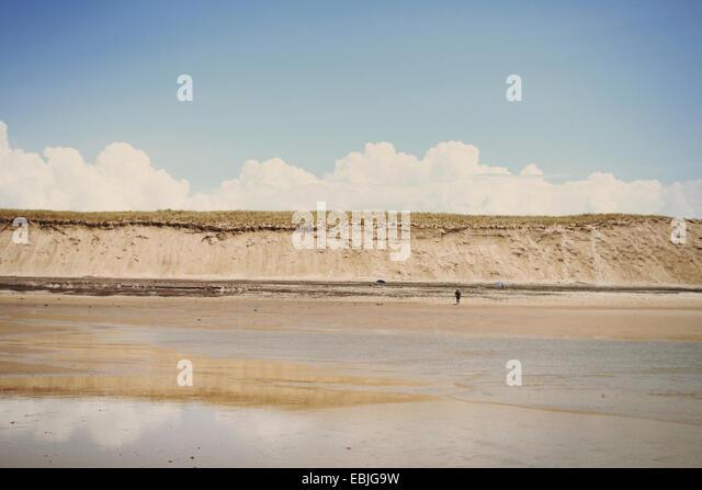 Beach, Lacanau, France - Stock Image