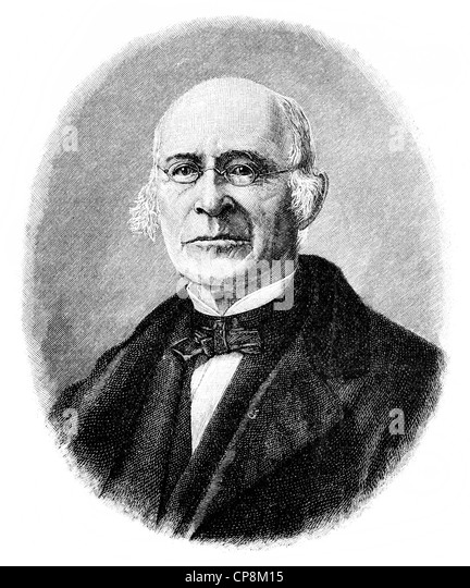 William Lloyd Garrison, 1805 - 1879, an American writer and campaigner for the abolition of slavery in the U.S., - Stock Image