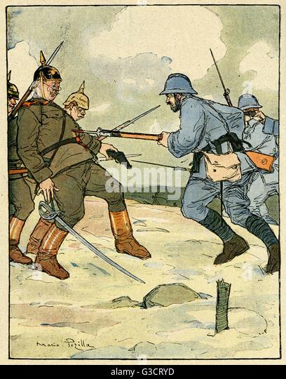 Ww1 battlefield western front stock photos ww1 - Battlefield 1 french soldier ...