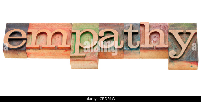 empathy - isolated word in vintage wood letterpress printing blocks - Stock Image
