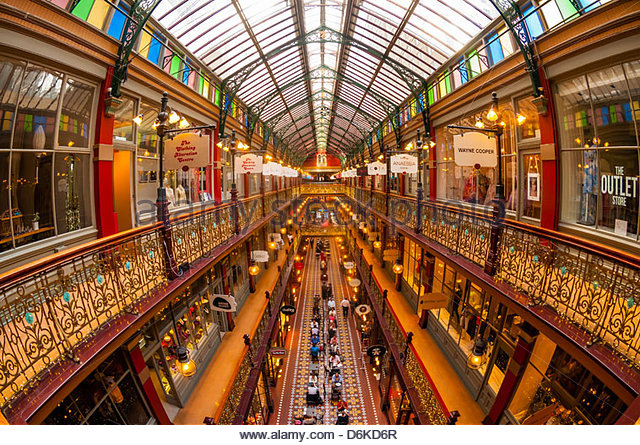 The Strand Arcade (a Victorian shopping arcade in the Central Business DIstrict), Sydney, New South Wales, Australia - Stock Image
