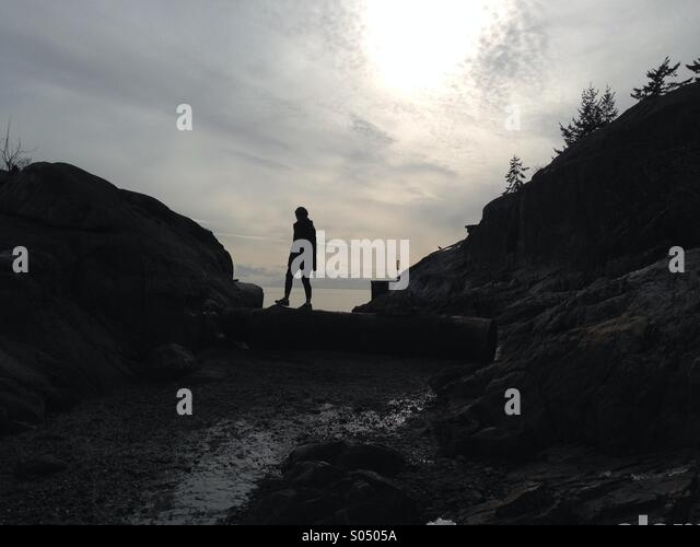 Lonely Woman - Stock Image