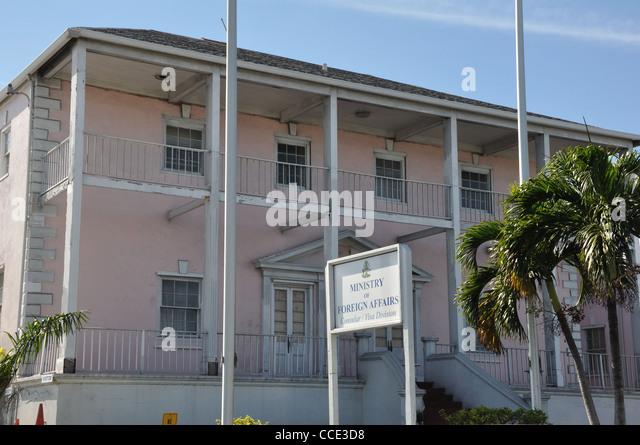 Ministry of Foreign Affairs, Nassau, Bahamas - Stock Image