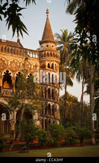 spiral staircase of the university library, Mumbai, Bombay India - Stock Image