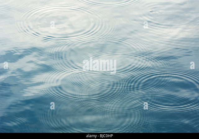 Rippled surface of water - Stock Image