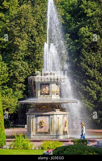 Peterhof Palace Roman Fountain in the Lower Garden near Saint Petersburg, Russia - Stock Image