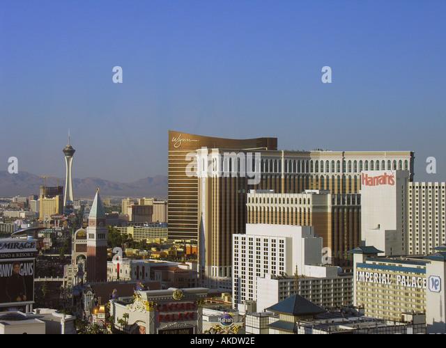 Las Vegas Strip Nevada Skyline aerial - Stock Image