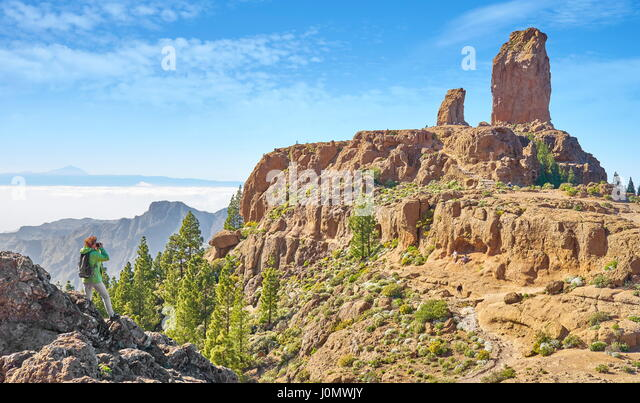 Roque Nublo, Gran Canaria, Canary Islands, Spain - Stock-Bilder