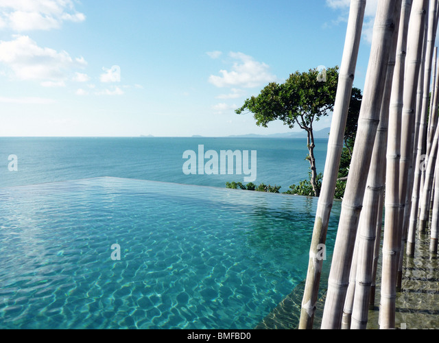 Pool in Koh Samui, Thailand - Stock Image