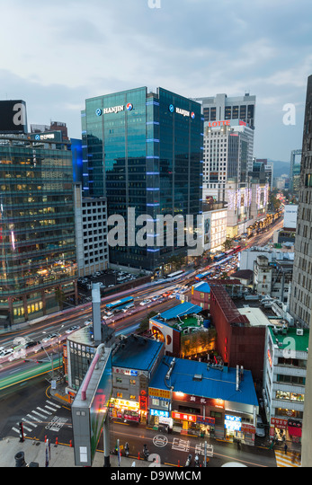 Modern architecture, Myeong-dong, Myeongdong, Seoul, South Korea, Asia - Stock Image