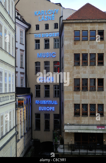 Karlovy Lazne Club by Charles Bridge Old Town Stare Mesto Prague Czech Republic - Stock-Bilder