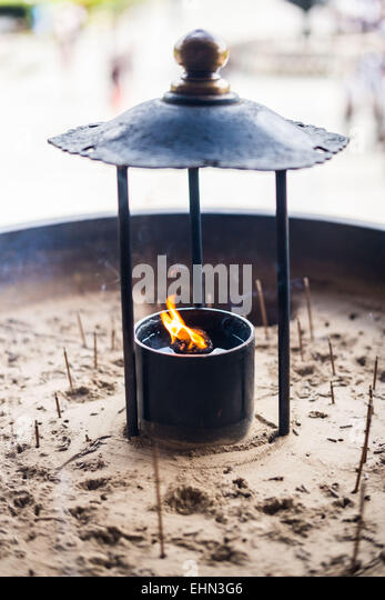Burning incense. - Stock Image