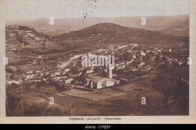 a view of  Torralba in an old postcard - Stock Image