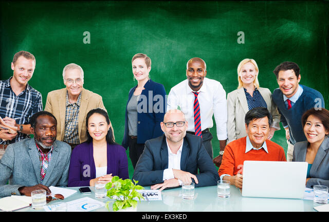 Business People Team Connection Togetherness Concept - Stock Image