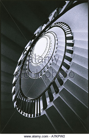 Spiral staircase - Stock Image