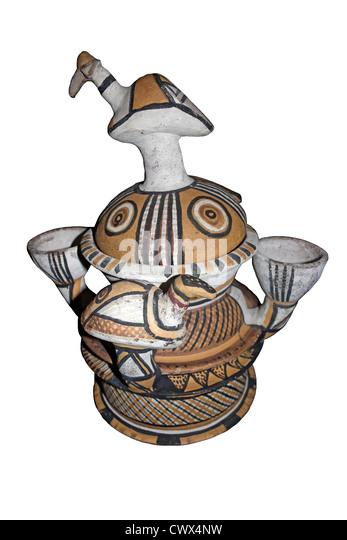Ceremonial Water Pot Hausa Bida, Nigeria - Stock Image