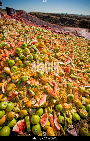 Food waste produce to be composted - Stock Image