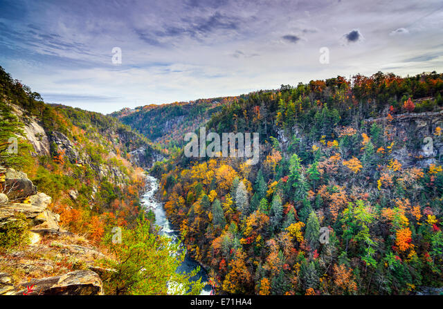 Tallulah Gorge in Georgia, USA during fall season. - Stock Image