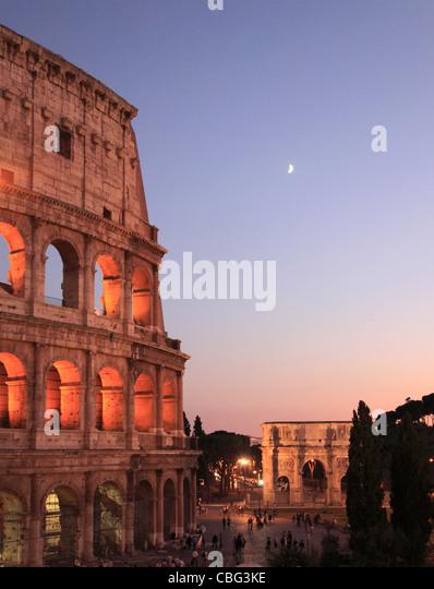 Italy, Lazio, Rome, Colosseum, Arco di Costantino, - Stock Image