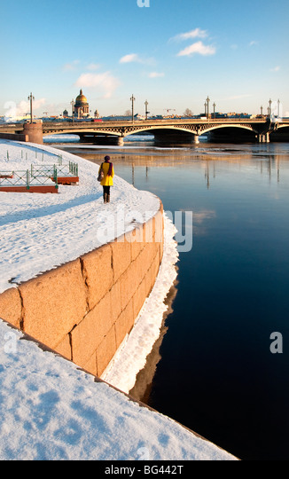 Saint Petersburg in winter, Russia - Stock Image
