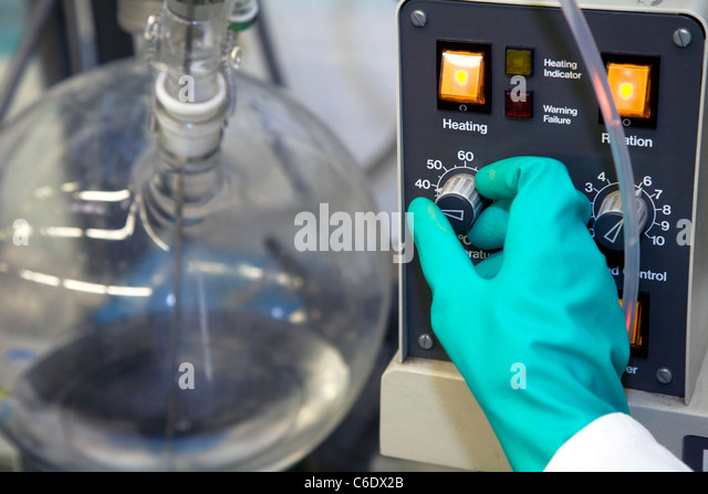 Chemistry lab assistant, Muelheim an der Ruhr, Germany - Stock Image